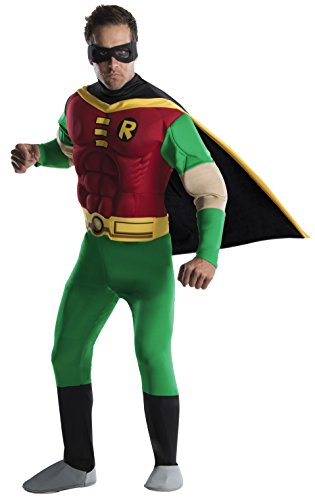 Rubie's Official DC Comic Robin Deluxe Adult Costume, Batman Movie Character, Mens Size Large from Rubie's