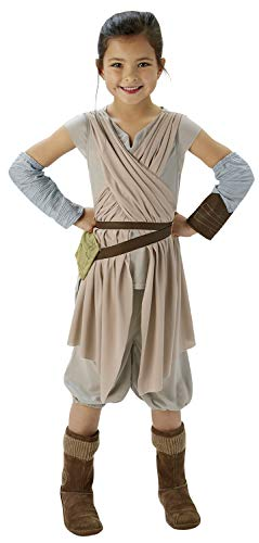 Deluxe Rey Girls Fancy Dress Disney Star Wars Force Awakens Kids Childs Costume from Rubie´s