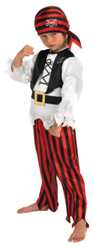Rubie's Official Children's Raggy Pirate Boy - Fancy Dress Costume, 128 cm - Large, 7-8 Years from Rubie's