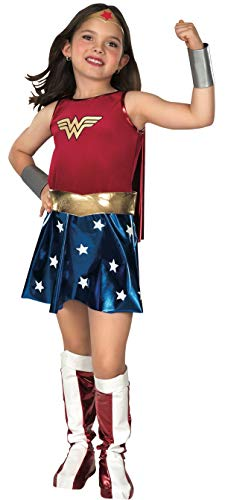 Rubie's Official Deluxe Wonder Woman Fancy Dress, 132 cm, Children Costume for Ages 5-7 - Medium from Rubie's