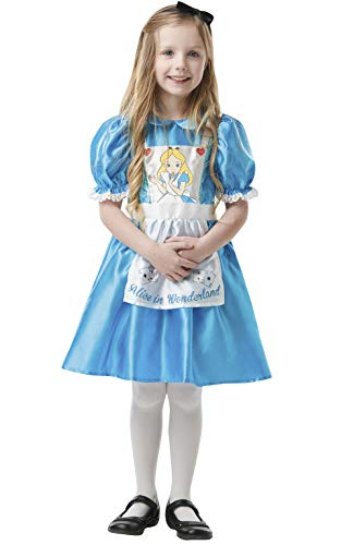 Rubie's Official Disney Alice in Wonderland, Alice Child Costume, Book Day Character - Large Age 7-8, Height 128 cm from Rubie's
