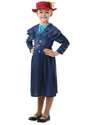 Rubie's Official Disney Mary Poppins Returns Movie Costume, Childs Book Week Character - Girls Size Large Age 7-8 Years from Rubie's