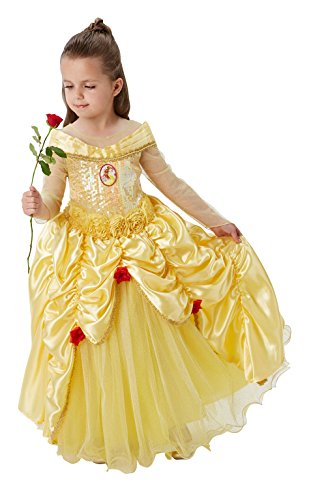 Rubie's Official Disney Premium Belle Girls Fancy Dress Princess Beauty Childs Deluxe Costume - Medium from Rubie's