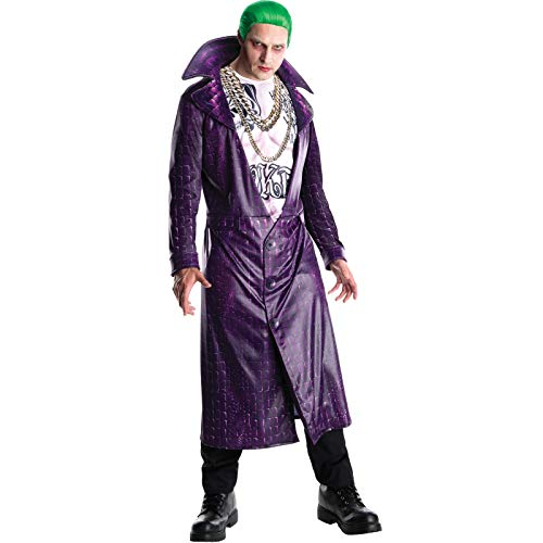 Rubie's Official Joker Mens Fancy Dress Halloween Villain Suicide Squad Adults Costume Outfit from Rubie's