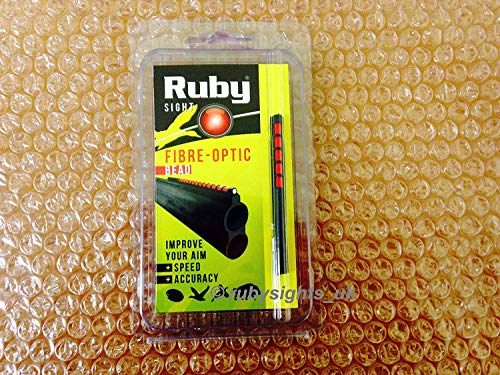 RUBY FIBRE OPTIC SHOTGUN SIGHT RED BEAD 71MM HUNTING SPORTING from Ruby
