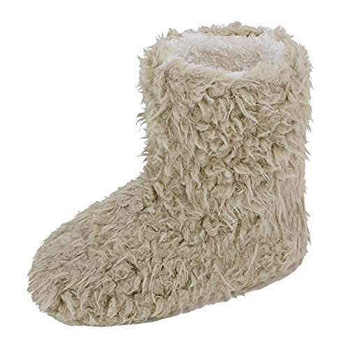 Women Men Wool Ankle Boots Soft Fleece Cashmere Warm Slipper Boots Booties Winter Cozy Thermal Slippers Moccasins Non Slip Furry Thicken Boots House Outdoor Solid Color Slippers UK 3-8 Light Tan from Ruixia