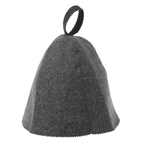Wool Felt Sauna Hat Anti Heat Russian Banya Cap for Bath House Head Protection from Runrain
