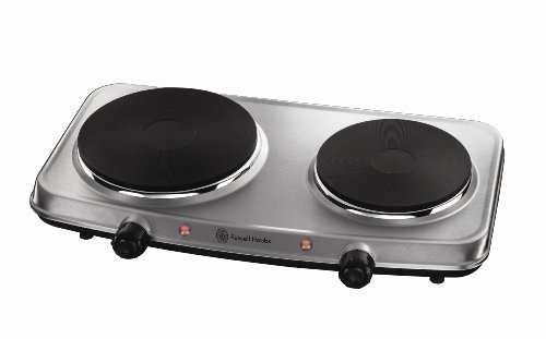 Russell Hobbs 2 Plate Mini Hot Plate Hob 15199, 1500 W - Stainless Steel from Russell Hobbs