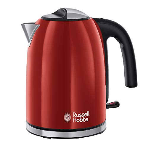 Russell Hobbs Colour Plus Kettle 20412, Stainless Steel, 3000 W, 1.7 Litre, Flame Red from Russell Hobbs