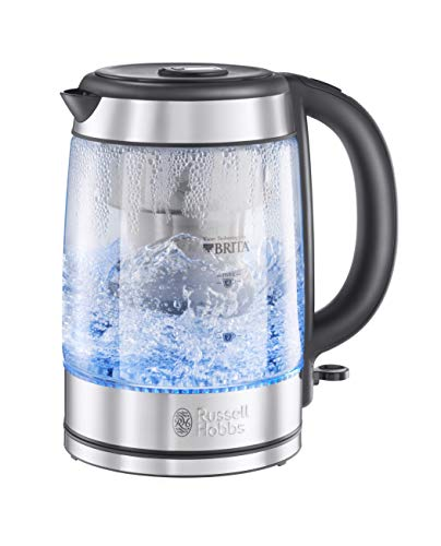Russell Hobbs 20760-10 Brita Purity Glass Kettle, Filter Kettle with Brita Maxtra+ Cartridge Included, 3000 W, 1.5 Litre from Russell Hobbs