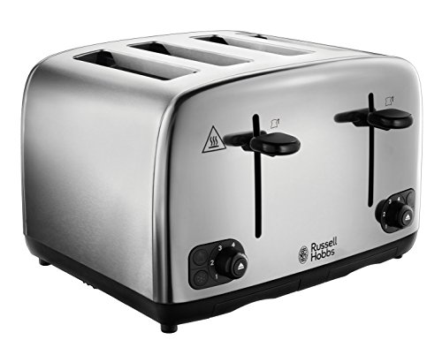 Russell Hobbs 24090 Adventure Four Slice, Brushed Polished Stainless Steel Toaster from Russell Hobbs