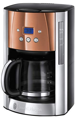 Russell Hobbs Luna Filter Coffee Maker 1.8 Litre Programmable Coffee Machine with Timer and Auto Keep Warm, Copper, 24320 from Russell Hobbs