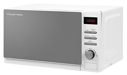 Russell Hobbs RHM2079A 20 L 800 W White Digital Solo Microwave with 5 Power Levels, Automatic Defrost, 8 Auto Cook Menus, Clock & Timer, Easy Clean from Russell Hobbs