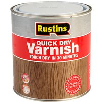 Rustins AVGC1000 Quick Dry Varnish Gloss Clear 1 Litre from Rustins