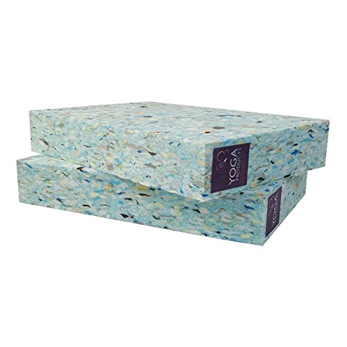 2 x Recycled FULL Chip Foam Yoga Blocks from Ruth White Yoga Products Ltd
