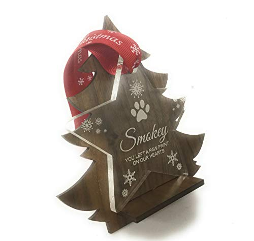Personalised Pet Memorial Christmas Tree Star Decoration - Perfect Way to Remember Your Pet This Christmas from Rutherfords Gifts