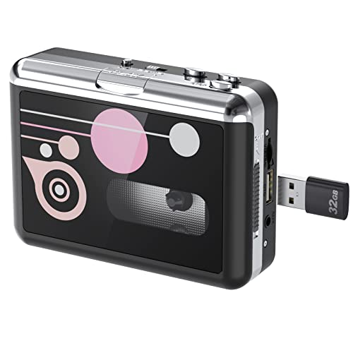 Rybozen Cassette Player Standalone Portable Digital USB Audio Music/Cassette Tape to MP3 Converter with OTG Save into USB Flash Drive/No PC Required from Rybozen