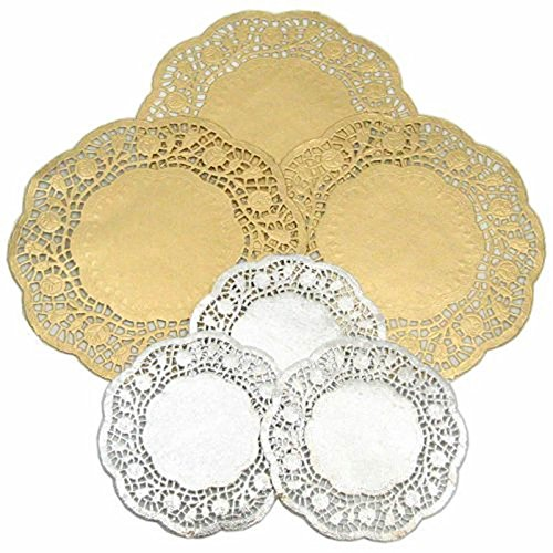 40 GOLD & SILVER PAPER DOILIES 20 SILVER , 20 GOLD C27 from Be Creative