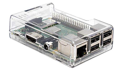SB High Quality Raspberry Pi 3 Case - Clear/Transparent **ACCESS to all Ports ** mounted in 30 seconds. RoHS Compliant from sb components