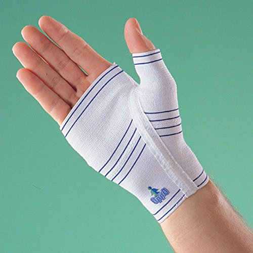 SDA Elastic PALM / HAND COMPRESSION SUPPORT by OPPO - Arthritis Pain Relief Wrap - Avoid Pain / For Weak Palm / Injury Recovery & Rehabilitation Bandage / Ligament Tendon Glove (RIGHT HAND, M -- 13.7-15.6cm) from SDA DIRECT
