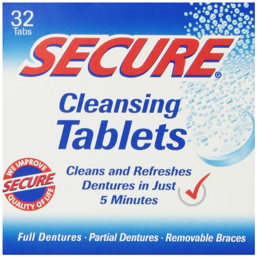 Denture Cleanser 32 Tab By Secure Denture Adhesive (1 Each) from SECURE