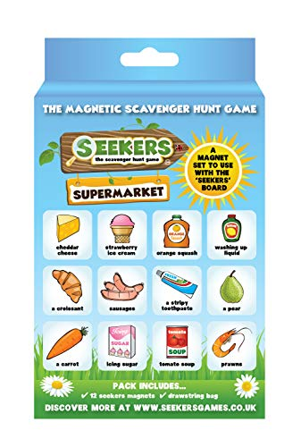 SEEKERS Scavenger Hunt Game Add-On Pack - Supermarket. Fun For Children All Ages. Ideal For Camping, Travel, Holidays and Road Trips. Outdoor Games for Kids. Magnetic Board Sold Separately. from SEEKERS
