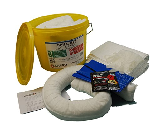 10 Litre Oil and Fuel Spill Kit in a Plastic Tub (Complete Kit) from SERPRO