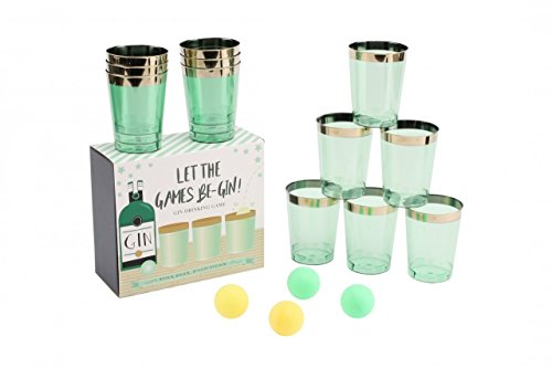 Let the Games Be-Gin Gin Pong Drinking Game - Ideal for Parties from SF