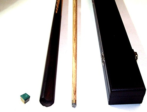 2 PIECE ASH POOL/ SNOOKER CUE WITH HARD CASE ** from SGL
