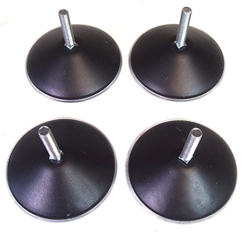 4 x POOL TABLE FEET (BLACK) from SGL