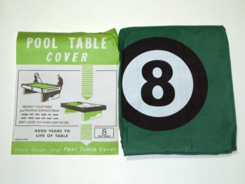 POOL TABLE COVER TO FIT 8FT TABLE WITH 8 BALL DESIGN** from SGL