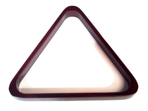 "WOODEN MAHOGANY POOL TABLE TRIANGLE TO FIT AMERICAN 2 1/4"" POOL BALLS (S196)** from SGL"
