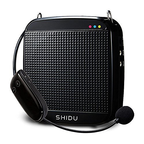 2.4G Wireless Digital Voice Amplifier PA System with Wireless Headset Microphone, 18W Portable Loud Speaker Clear Sound With 2200mAH Rechargable Battery Perfect for Teaching, Singing, Tour from SHIDU