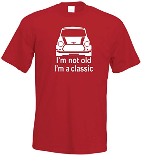 SHOEBOB Classic Mini T-Shirt | Retro Mini Unisex Tshirt (XX-Large, Red) from SHOEBOB