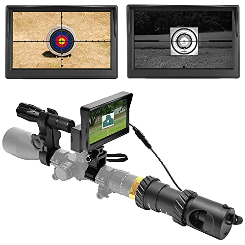 "[UPGRADE] DIY Digital Night Vision Scope for Rifle Hunting with HD Camera and 5"" Portable Display Screen from SIHEE"