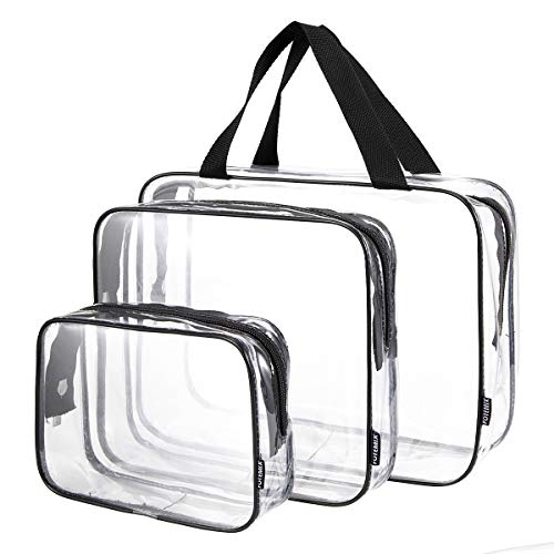 FOTEMIX Toiletry Bags 3 in 1 Gift Makeup Bags & Cases Plastic Bag Clear PVC Travel Bag Brushes Organizer for Men and Women Travel Business Bathroom from FOTEMIX