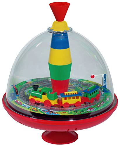 SIMM Spielwaren Bolz 52120 panorama spinning top with sound chip, railway noise from SIMM Spielwaren