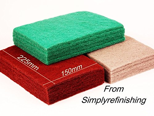 SCUFF PADS LIKE SCOTCH BRITE ABRASIVE PADS 5 X GREY 5 X RED 5X GREEN from SIMPLY REFINISHING