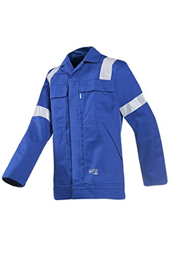 SIOEN 002VA2PIFH46048 Novara Anti-Static Offshore Jacket, Flame Retardant, EUR 48, Royal Blue from SIOEN