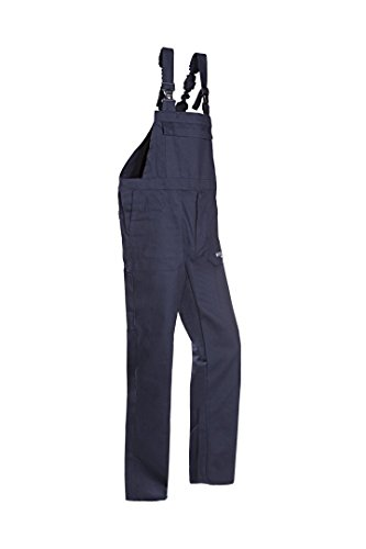 SIOEN 005VN2PIFB98I48 Alvito Flame retardant anti-static bib and brace trousers, Long 48, Navy Blue from SIOEN