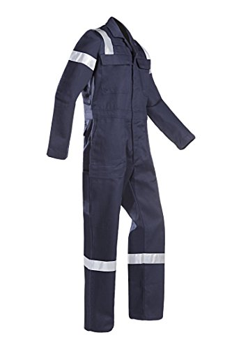 SIOEN 007VN2PIFB98I50 Aversa Flame retardant anti-static offshore coverall, Long 50, Navy Blue from SIOEN