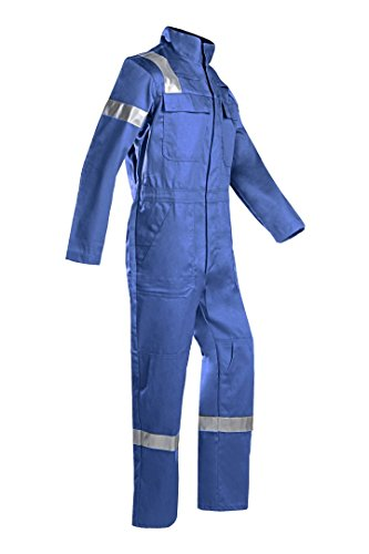 SIOEN 017VN2PFAH46P48 Carlow Offshore Coverall With Arc Protection, Short 48, Royal Blue from SIOEN