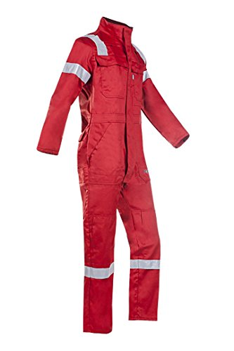 SIOEN 017VN2PFAR26R50 Carlow Offshore Coverall With Arc Protection, Regular 50, Red from SIOEN