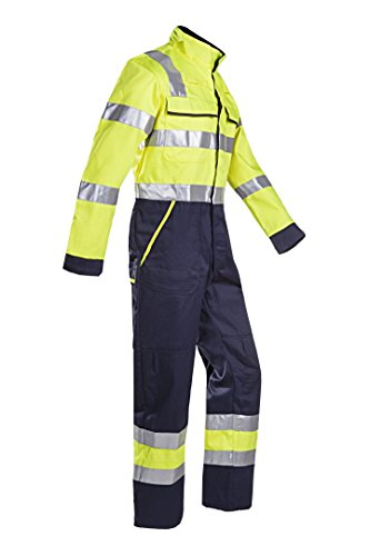 SIOEN 018VN2PFA049R50 Autun coverall with ARC protection, Regular 50, Hi-Vis Yellow/Navy from SIOEN