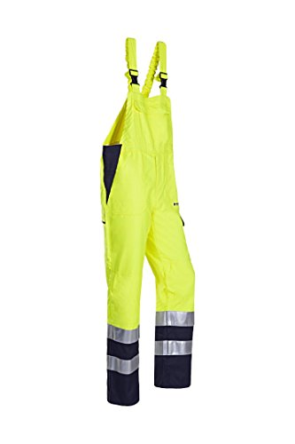 SIOEN 024VN2PF9049P54 Ambier bib and brace with ARC protection, Short 54, Hi-Vis Yellow/Navy from SIOEN