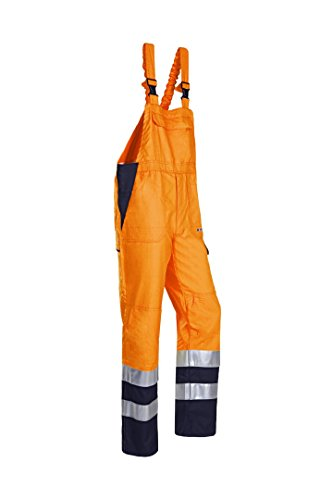 SIOEN 024VN2PFD048P58 Viana Hi-Vis Bib and Brace with ARC Protection, Short 58, Orange/Navy from SIOEN