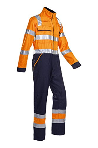 SIOEN 026VN2PFD048R48 Guardo coverall with ARC protection, Regular 48, Hi-Vis Orange/Navy from SIOEN