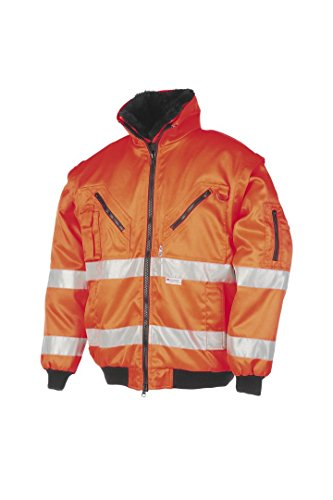 SIOEN 029AA2PBEFC13XL Sparrow Hi-Vis Winter Bomber Jacket with Detachable Sleeves, 3X-Large, Orange from SIOEN