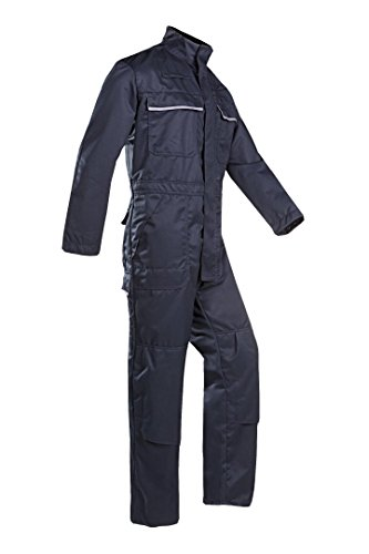 SIOEN 030VN2PU2B98R62 Valmenier Coverall with ARC Protection, Regular 62, Navy Blue from SIOEN