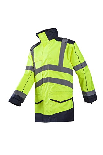 SIOEN 166AA2EU1278M Anfield rain jacket, Medium, Hi-Vis Yellow/Navy from SIOEN